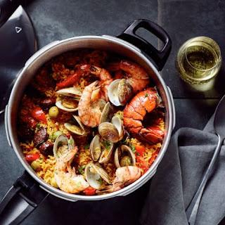 Pressure Cooker Paella Recipe