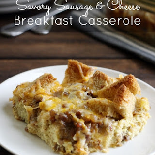 Savory Sausage and Cheese Breakfast Casserole.
