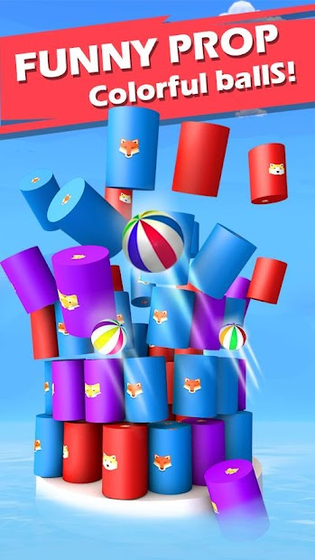 Color Ball 3D - Fire Color Tower Down Android App Screenshot