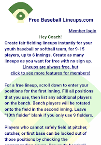 Free Baseball Lineups.com screenshot 0