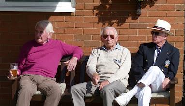 Photo: Ian Kury, George Startup and Chairman, Victor Armstrong (like the hat).