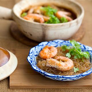 Claypot Thai Glass Noodles with Prawns