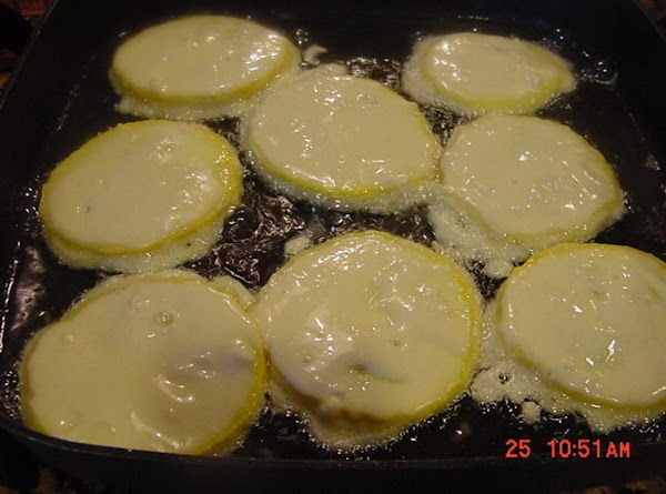 FRYING Use about 1/4 inch of vegetable oil for frying.  I use an electric...