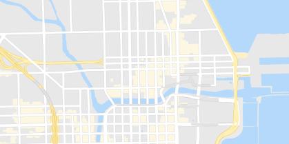 Map of city street
