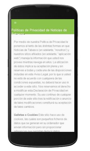 android Noticias de Tabasco Screenshot 1