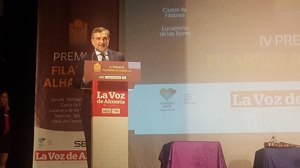 Ángel Escobar, vicepresidente tercero de la Diputación de Almería.