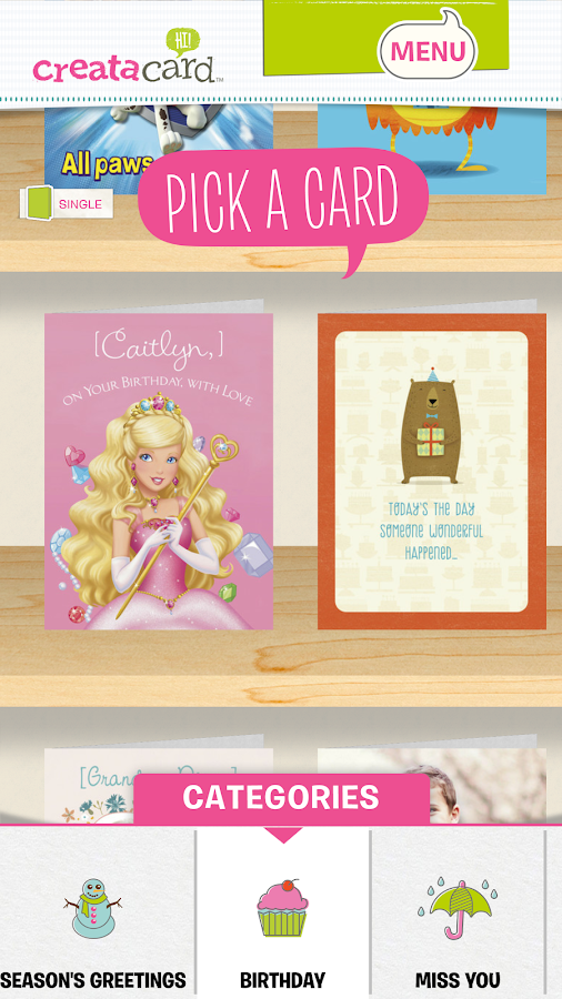 Creatacard Card Maker- screenshot