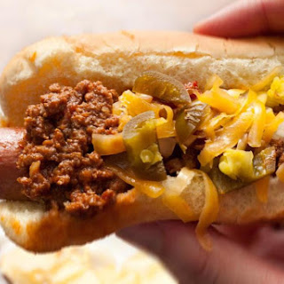 Bison Chili Cheese Dogs