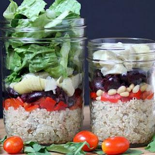 Mediterranean Quinoa Salad-In-A-Jar.
