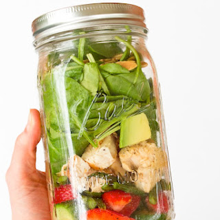 Strawberry Spinach Mason Jar Salad with Citrus Poppy Seed Dressing