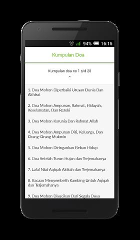 android Kumpulan Doa Islam Terlengkap Screenshot 1
