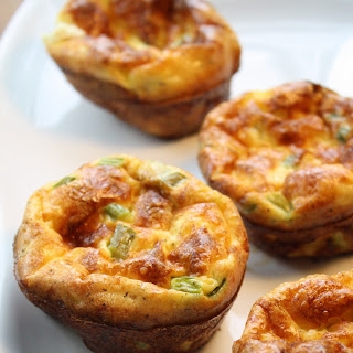 Asparagus, Swiss & Goat Cheese Cup-Quiche