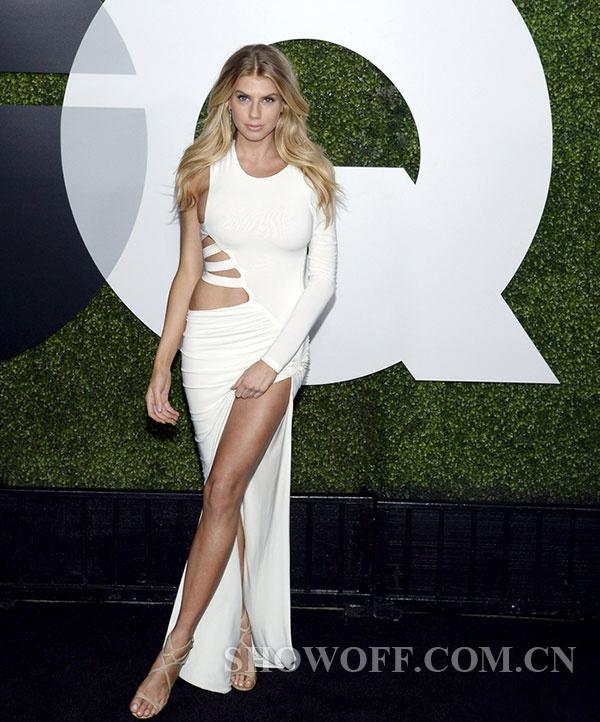 Model Ready For The Critics Choice Awards Pose