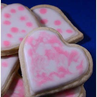 Glace Icing Heart Cookies