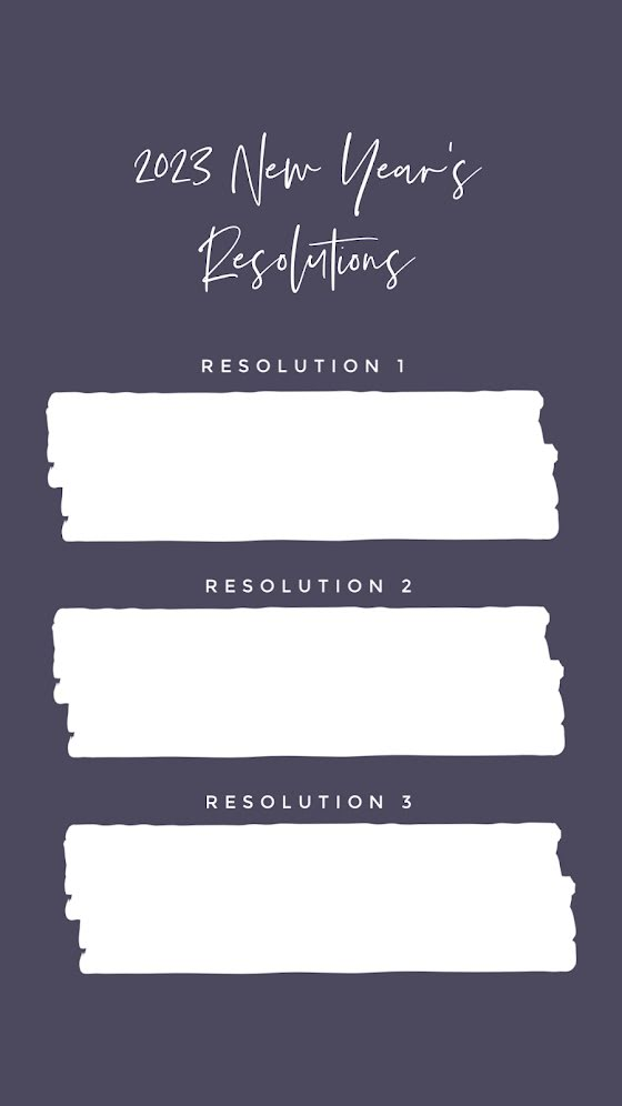 Three New Year's Resolutions - New Year's Template