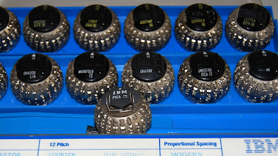 """Photo: Back in my youth """"IBM Compatible"""" meant these golf-ball print heads that fit into IBM Selectric 2 typewriters."""