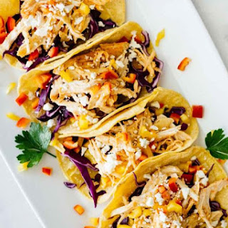 Healthy Sriracha Shredded Chicken Tacos