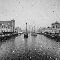 Neve sul porto canale di Marcello Zavalloni