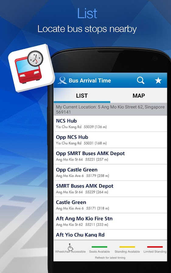 MyTransport Singapore- screenshot
