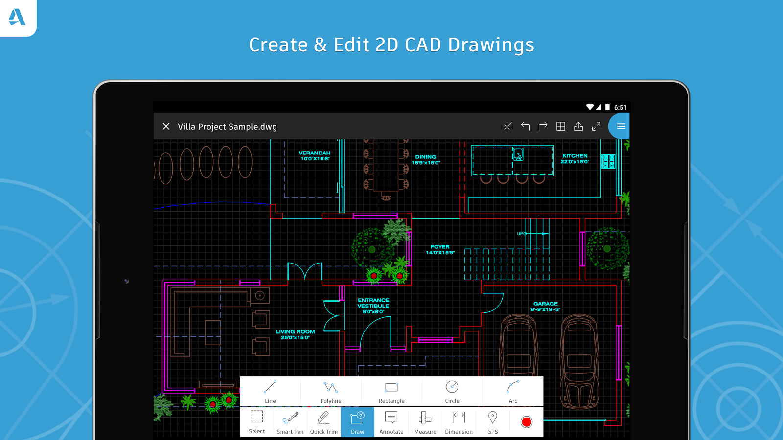 AutoCAD - DWG Viewer & Editor- screenshot