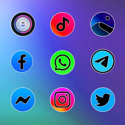 Miui 11 Circle Fluo - Icon Pack Screenshot Image