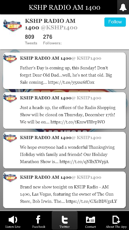 KSHP RADIO AM 1400- screenshot