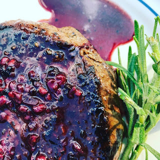 Rosemary Beef Tenderloin with a Blackberry Reduction.