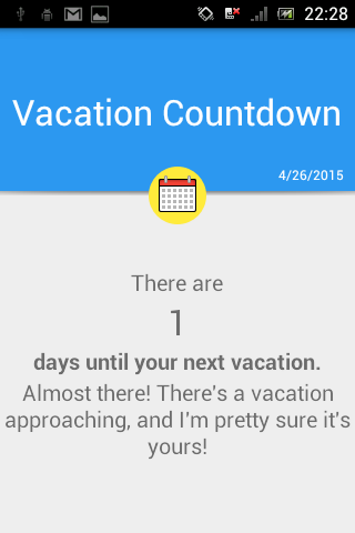 Vacation Countdown
