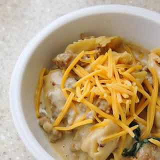 Creamy Cheesy Tortellini Soup