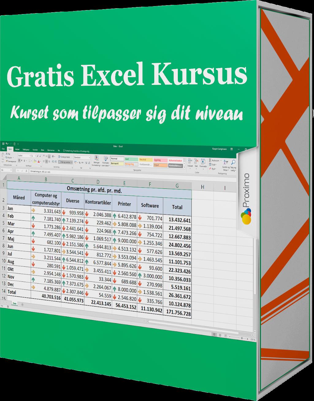 Gratis Online Excel Kursus Cover