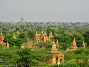 Photo: Birmanie-Bagan, la plaine sud.