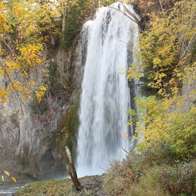 Spearfish Falls by Denise Parker - Landscapes Waterscapes
