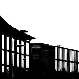 Black Lines Design by Joatan Berbel - Black & White Buildings & Architecture ( city, buildings, design, black and white, architectural )