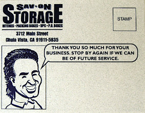 Photo: This is another postcard, designed for the client. I did a caricature of the owner, which he subsequently used on a lot of his correspondence, as a mascot.