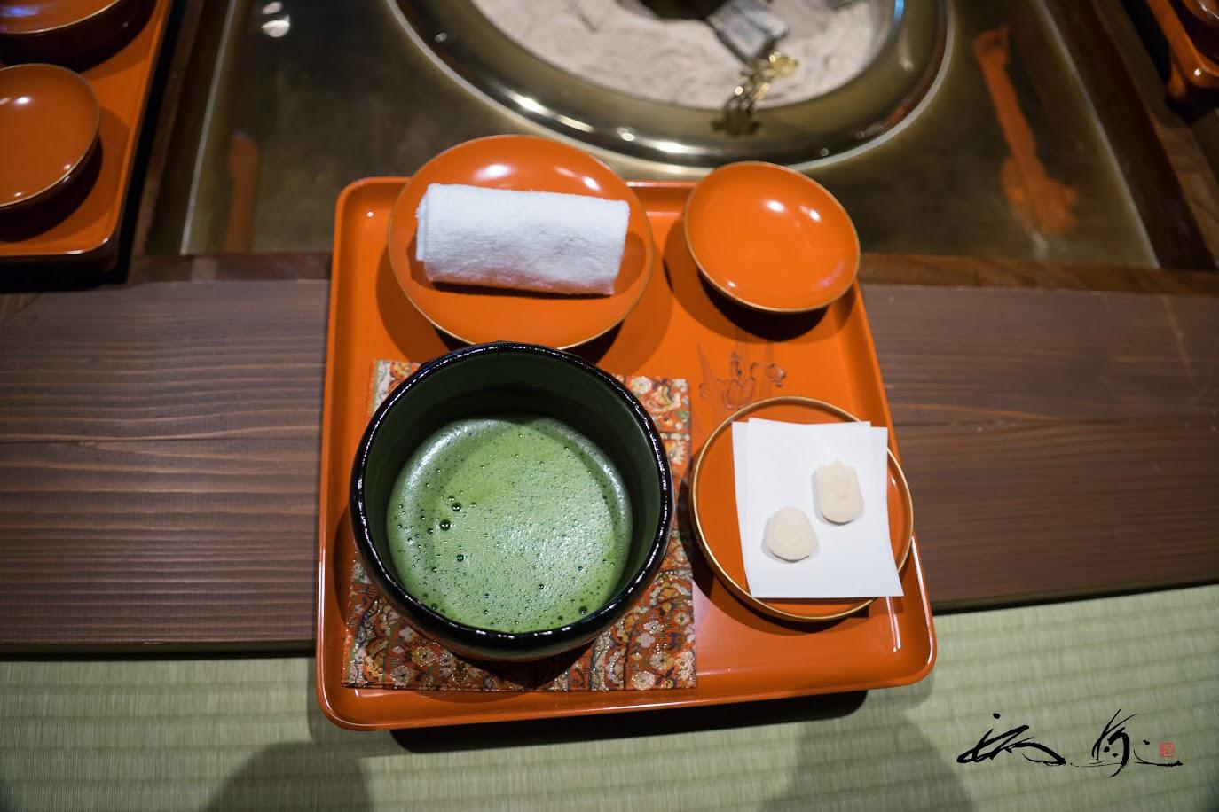 抹茶・千菓子・酒粕甘酒のおもてなし