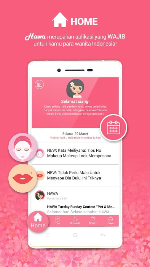 Hawa - App Wanita Indonesia- screenshot