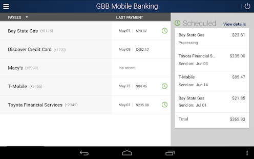 GBB Mobile Banking- screenshot thumbnail