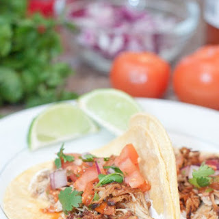 Crock Pot Chicken Carnitas Tacos