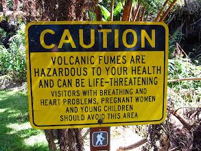 Photo: Dangers of walking round an active volcano.