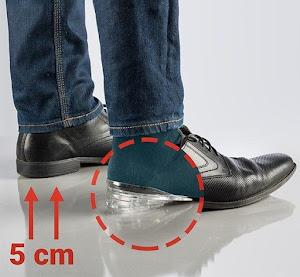 Set 2 branturi inaltatoare din silicon pentru pantofi, B-tall