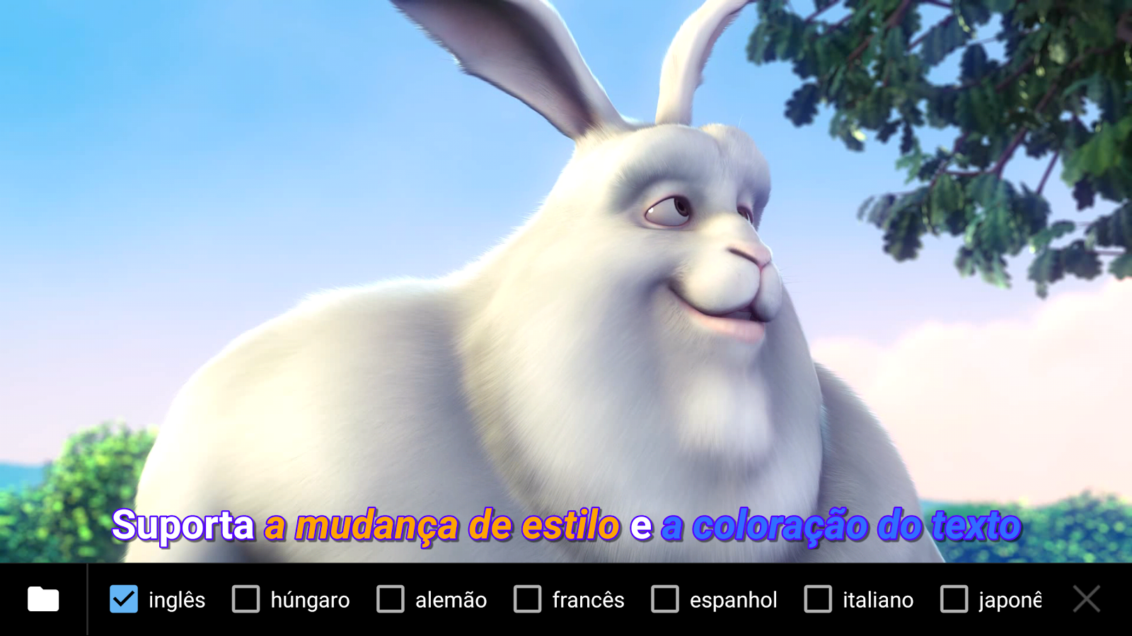 MX Player: captura de tela