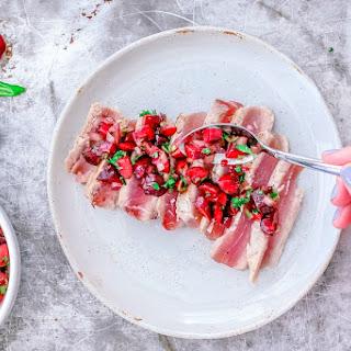 Grilled Ahi Tuna with Cherry Salsa Recipe