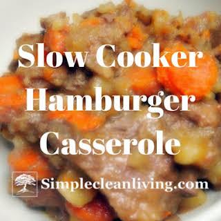 Slow Cooker Hamburger Potato Casserole.