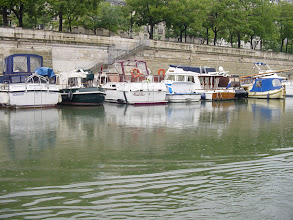 Photo: The Basin is in fact full of pleasure craft - I wonder what docking fees are in the center of Paris?