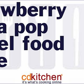 Strawberry Soda Pop Angel Food Cake.