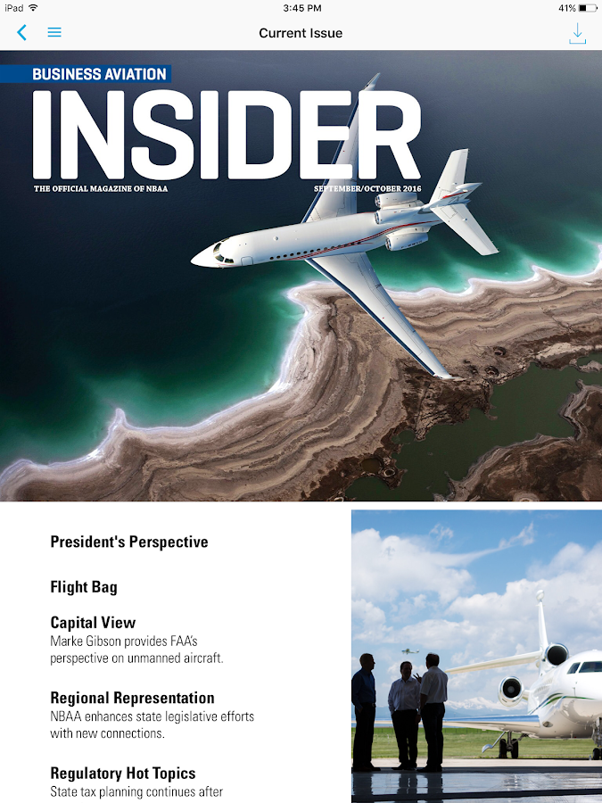 NBAA Business Aviation Insider- screenshot