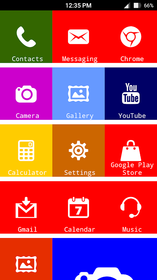 X Launcher Metro Look - Themes- screenshot