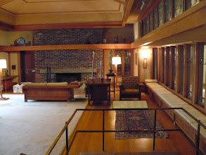 Photo: Frank Lloyd Wright Room, 1912-1914.   This was originally the living room in the Prairie-style lake house in Wayzata, Minnesota, created for Mr. and Mrs. Francis W. Little. The room served both as a family gathering place and as an informal concert hall. It is a light-filled pavilion, in which the division between interior and exterior has been minimized.  http://www.metmuseum.org/collections/galleries/the%20american%20wing/745
