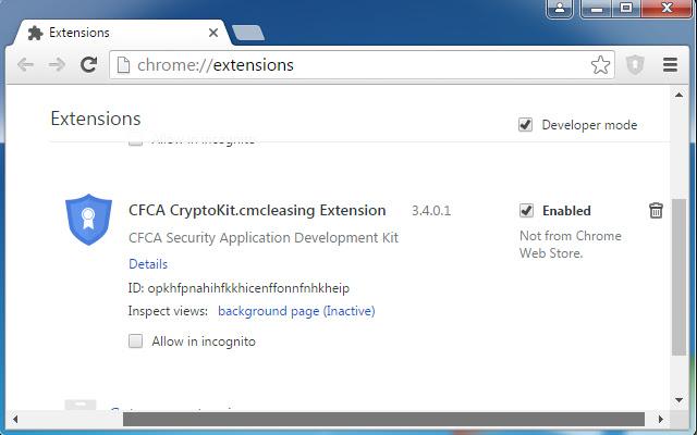 CFCA CryptoKit.cmcleasing Extension