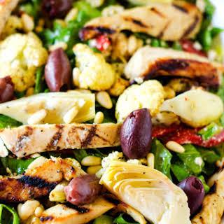 Marinated Mediterranean Grilled Chicken Salad.